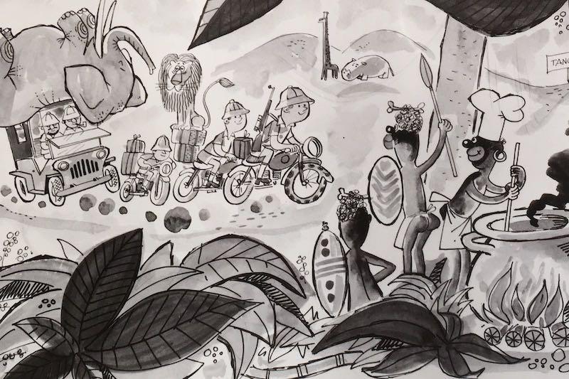 Operación Impala vista por el caricaturista Peñaroya